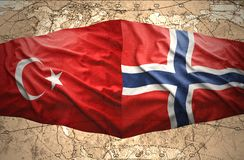 La Norvège et la Turquie Images stock