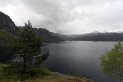 La Norvège, fjord norvégien Photographie stock