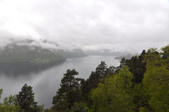 La Norvège, fjord norvégien Image stock