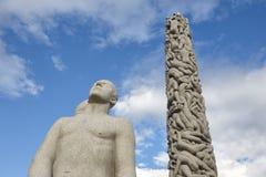 La Norvège, Oslo Sculptures en pierre de parc de Vigeland Tourisme de voyage Photographie stock libre de droits
