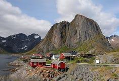 La Norvegia ad un giorno piacevole - paesaggio di Lofoten fotografia stock libera da diritti