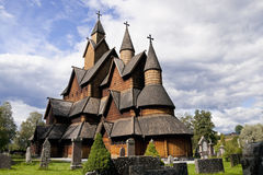 La Norvegia. Chiesa della doga di Heddal Fotografia Stock Libera da Diritti