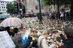 La Norvegia dopo gli attacchi Fotografia Stock