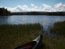 La Norvegia - giro della canoa Immagini Stock