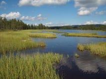 La Norvegia - giro della canoa Fotografie Stock