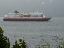 La Norvegia - il Hurtigruten Fotografia Stock Libera da Diritti