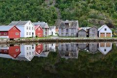 La Norvegia Laerdalsoyri Fotografia Stock Libera da Diritti