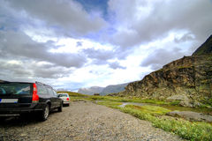 La Norvegia, montagne rocciose. Immagini Stock