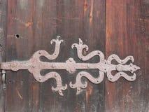 La Norvegia - nostalgia - vecchio montaggio della porta Immagini Stock Libere da Diritti
