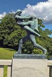 La Norvegia - Oslo, parco di Vigeland fotografie stock