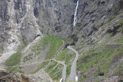 La Norvegia - paesaggio della montagna Trollstigen Immagini Stock Libere da Diritti