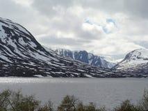 La Norvegia - paesaggio di inverno di estate Fotografia Stock