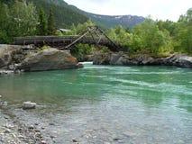 La Norvegia - ponte a Lom Fotografia Stock
