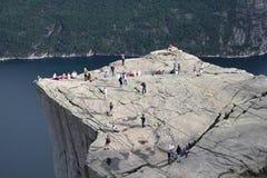 La Norvegia - Preikestolen Fotografie Stock