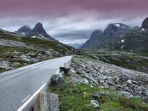 La Norvegia - Trollstigen Fotografie Stock Libere da Diritti