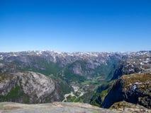 La Norvegia - un bello Mountain View immagini stock libere da diritti
