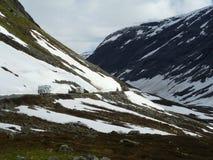 La Norvegia - viaggiando dal motorhome Fotografie Stock Libere da Diritti