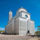 La nostra chiesa di Lord Jesus Christs Resurrection a Kaunas, Lituania fotografia stock