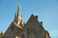 La nostra chiesa di signora, Bruges Immagine Stock
