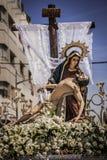 La nostra signora dei dispiaceri e del deposito di Cristo Immagini Stock