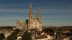 La nostra signora della cattedrale di Chartres, Francia Fotografie Stock