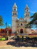 La nostra signora della cattedrale di immacolata concezione in Campeche, fotografia stock libera da diritti