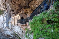 La nostra signora della caverna di Covadonga Fotografie Stock