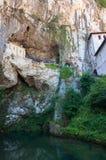 La nostra signora della caverna di Covadonga Fotografia Stock