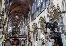 La nostra signora della chiesa Bruges di Mariastraat Fotografie Stock