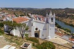 La nostra signora della chiesa di annuncio in Mertola, l'Alentejo, Portogallo fotografie stock libere da diritti