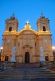 La nostra signora della chiesa di vittoria, Xagra, Gozo, Malta Fotografia Stock