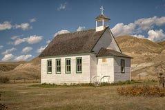 La nostra signora di aiuto perpetuo Roman Catholic Church a Dorothy Alberta immagini stock