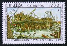 La nostra signora di Atocha, galeone, spedisce in costruzione, costruzione delle navi Fotografia Stock Libera da Diritti