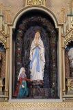 La nostra signora di Lourdes Immagini Stock