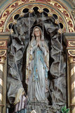 La nostra signora di Lourdes Fotografia Stock