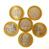 La nota de la Diez-rublo. Imagenes de archivo