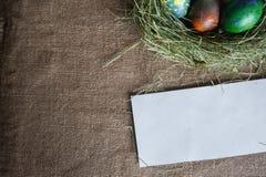 La nota di fondo per sposa i saluti di Pasqua Fotografia Stock Libera da Diritti