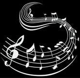 La nota di musica firma il fondo decorativo fotografie stock libere da diritti