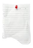 La nota en blanco o-enumera Imagen de archivo libre de regalías