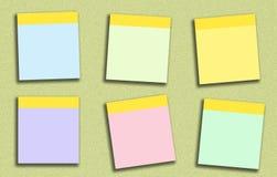 La nota pegajosa muchos colorea Fotografía de archivo