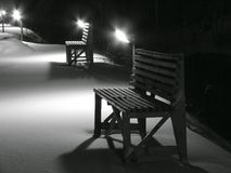 La notte è in un giardino pubblico. Fotografia Stock