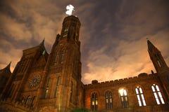La notte del castello di Smithsonian Stars il Washington DC Fotografie Stock