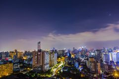 la notte della città proserous Fotografia Stock Libera da Diritti