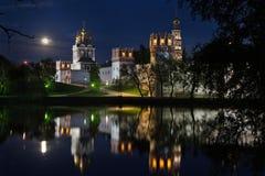 La notte della luna piena Fotografie Stock Libere da Diritti