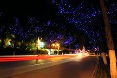 La notte della via Fotografia Stock