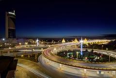 La notte di Harbin Fotografie Stock