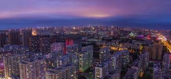 La notte di Harbin Fotografia Stock