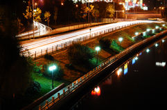 La notte di Pechino Fotografia Stock