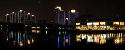La notte di Pechino Fotografie Stock Libere da Diritti