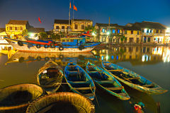 La notte ha sparato di Hoi. Il Vietnam fotografia stock libera da diritti